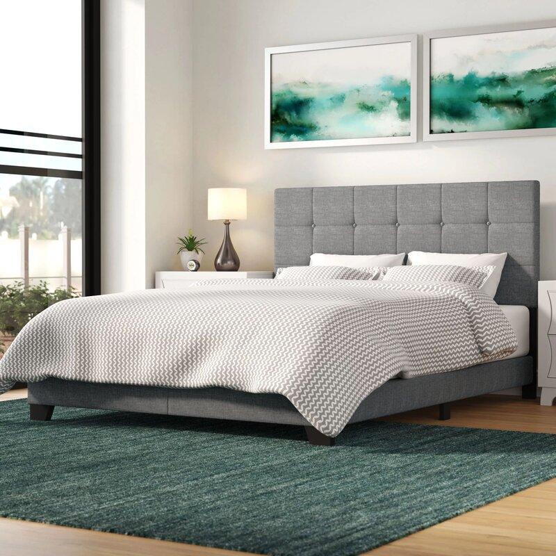 Mercury Row Cloer Upholstered Panel Bed Reviews Wayfair