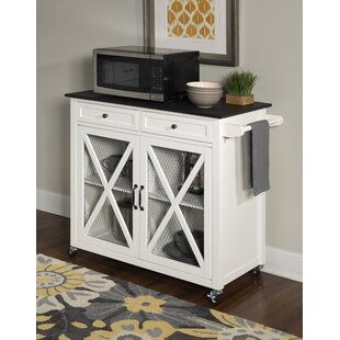 Gemma Two Door Kitchen Cart with Granite Top