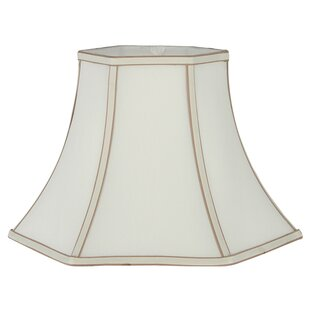 White silk lampshade wayfair faux silk bell lamp shade aloadofball Image collections