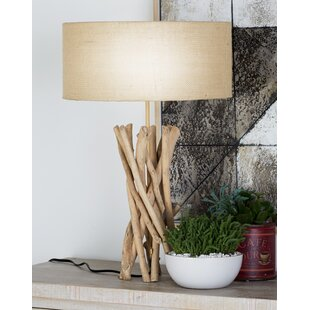 Turned wood table lamp wayfair ferncliff driftwood 23 table lamp aloadofball Choice Image