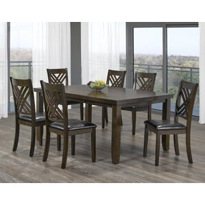 Elliot 7 Piece Dining Set by Brassex