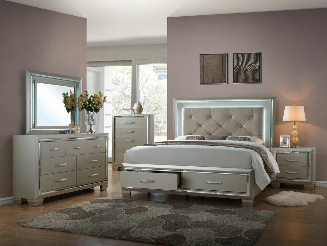 Kennard Queen Platform 5 Piece Bedroom Set