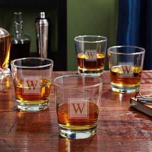 on the rocks 12 oz whiskey glass set of 4 - Whiskey Glass Set