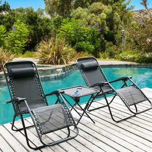 Brenton Sun Lounger Set with Cushions with Table (Set of 2) by Lynton Garden