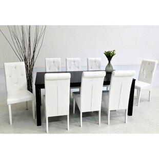 Dita 9 Piece Solid Wood Dining Set