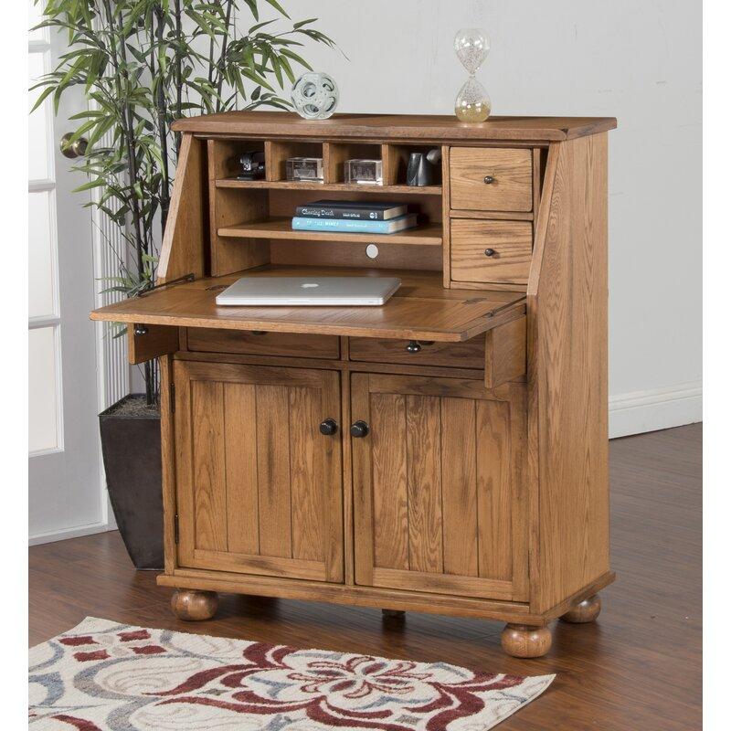 Fresno Solid Wood Secretary Desk Amp Reviews Birch Lane