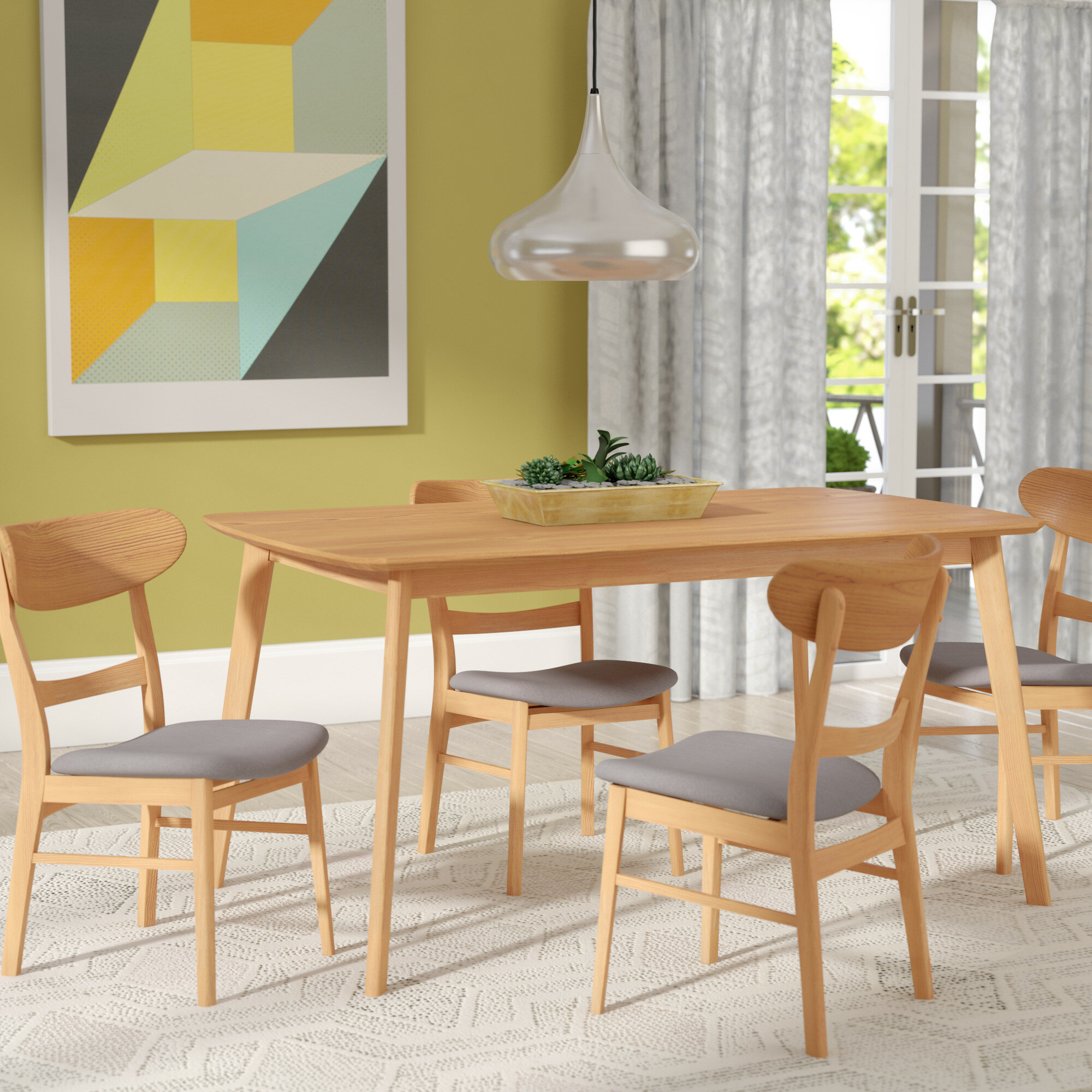 Rubberwood Dining Set