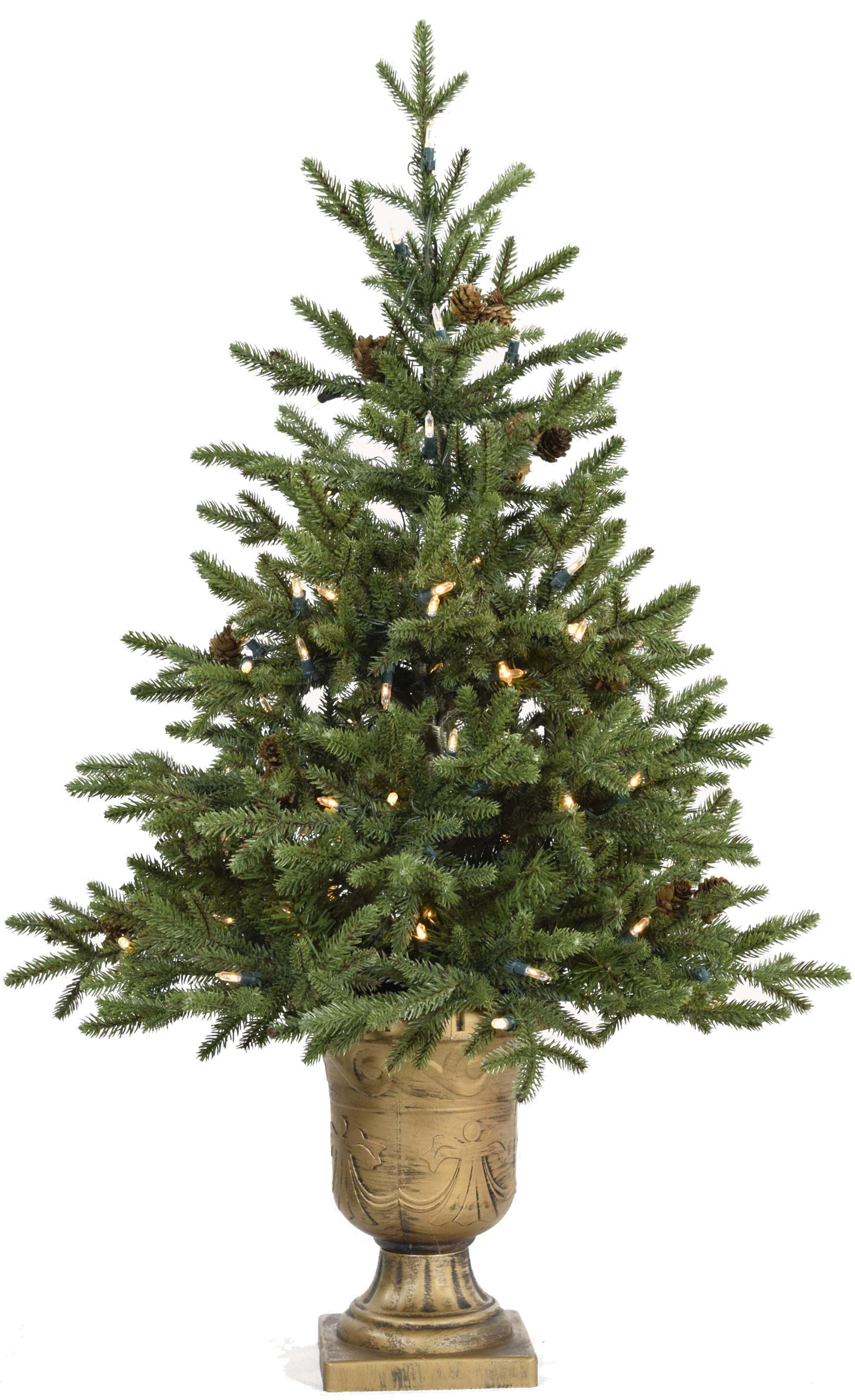 The Holiday Aisle Noble 3.6\' Green Fir Artificial Christmas Tree ...