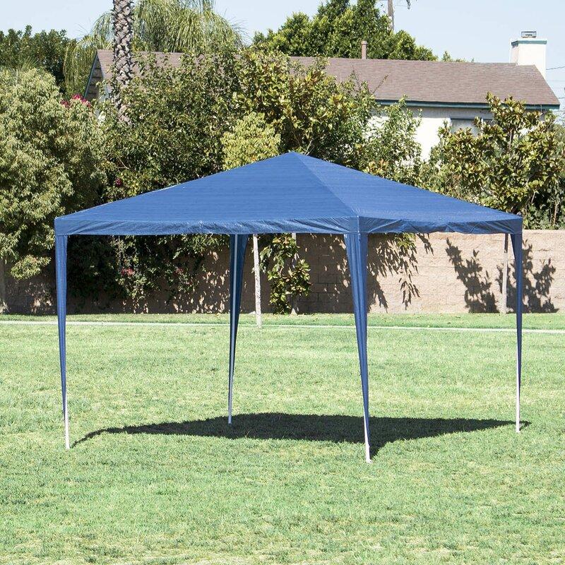 10 Ft  W x 10 Ft  D Steel Canopy