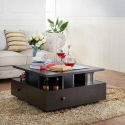 Furniture Coffee Tables latitude run square coffee table & reviews | wayfair
