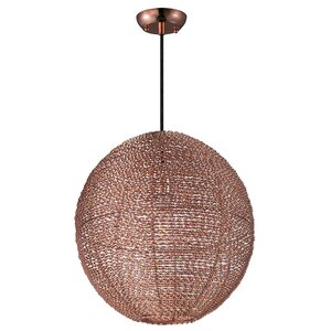 Camile 1-Light Metal Globe Pendant