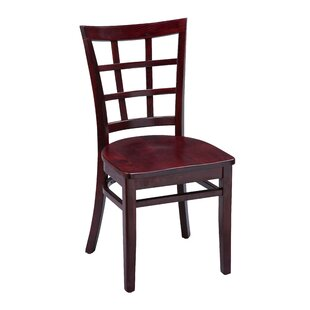 Beechwood Lattice Back Seat Solid Wood Dining Chair