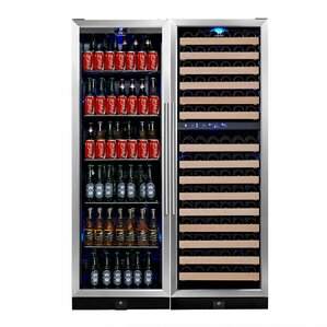 164 Bottle Triple Zone Built-In Wine Cellar by Kingsbottle