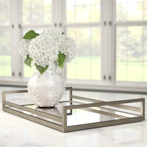 Rectangle Glass Accent Tray