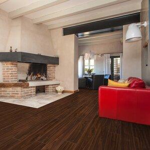 laminate flooring in living room. Artifice 6  x 48 8 3mm Laminate Flooring in Creekside AC4 You ll Love Wayfair