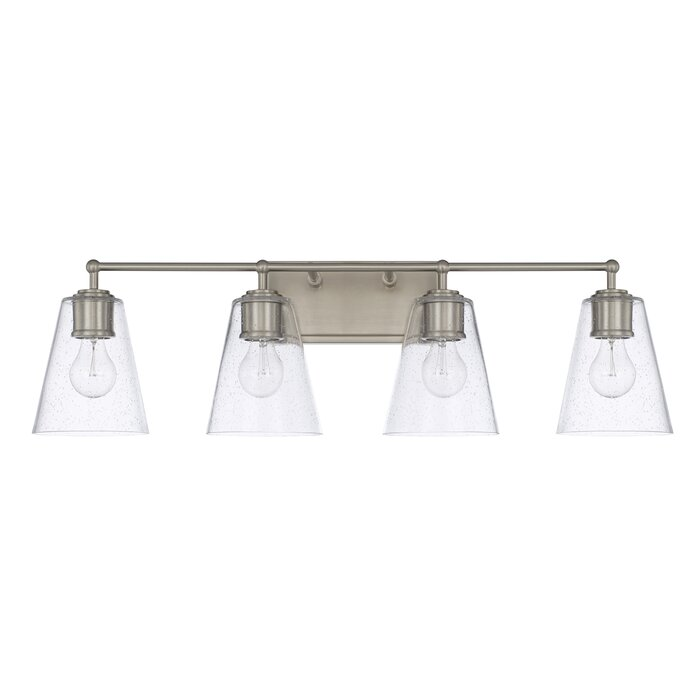 Three Posts Gallego 4 Light Glass Shade Vanity Light Reviews