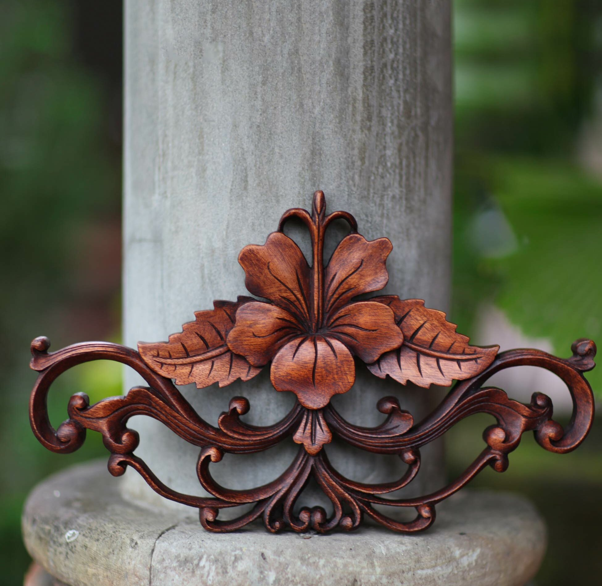 Novica Unique Fair Trade Floral Themed Hibiscus' Hand Carved ... on italy furniture, spain furniture, balinese furniture, cameroon furniture, teak root furniture, british virgin island furniture, thailand furniture, antique furniture, brisbane furniture, haiti furniture, guyana rattan furniture, bali furniture, middle eastern furniture, china's furniture, brunei furniture, coolest wood furniture, bedroom furniture, japan furniture, iceland furniture, netherlands furniture,
