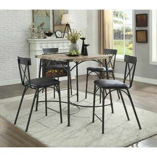 Braffe 5 Piece Counter Height Dining Set