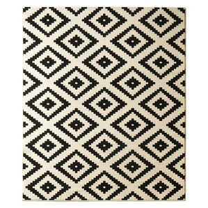 fj rde co jul black white area rug. Black Bedroom Furniture Sets. Home Design Ideas