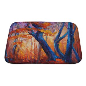 Gamma Beautiful Autumn Tree Modern Impressionism Bath Rug