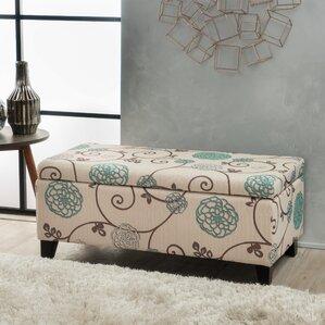 Neil Flowered Upholstered Ottoman