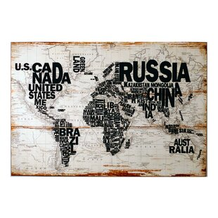 Reclaimed Wood World Map Wayfair