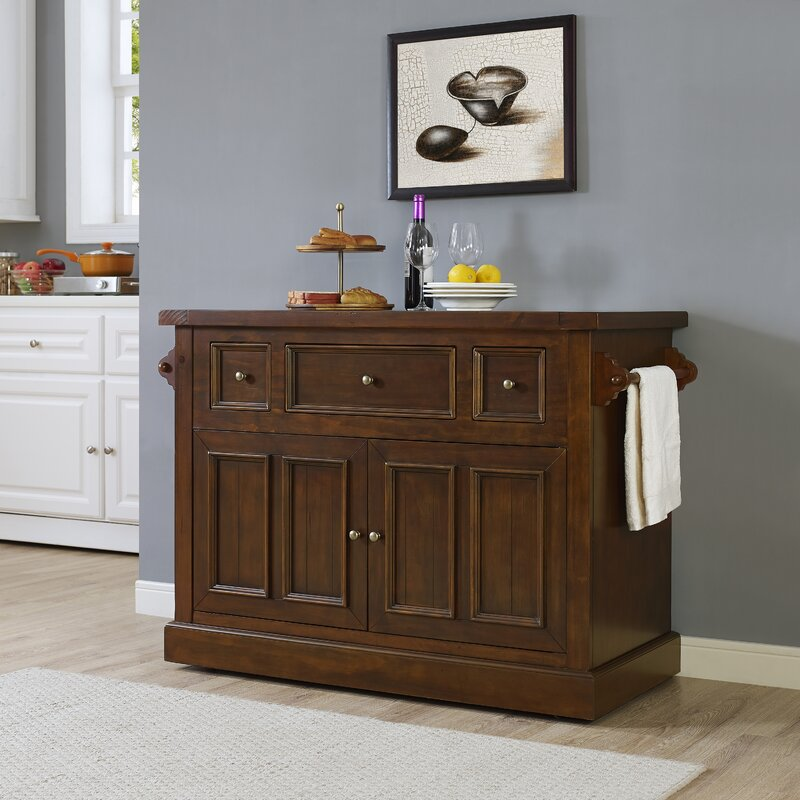 Kitchen Marble Top Loon peak ordway kitchen island with marble top reviews wayfair ordway kitchen island with marble top sisterspd