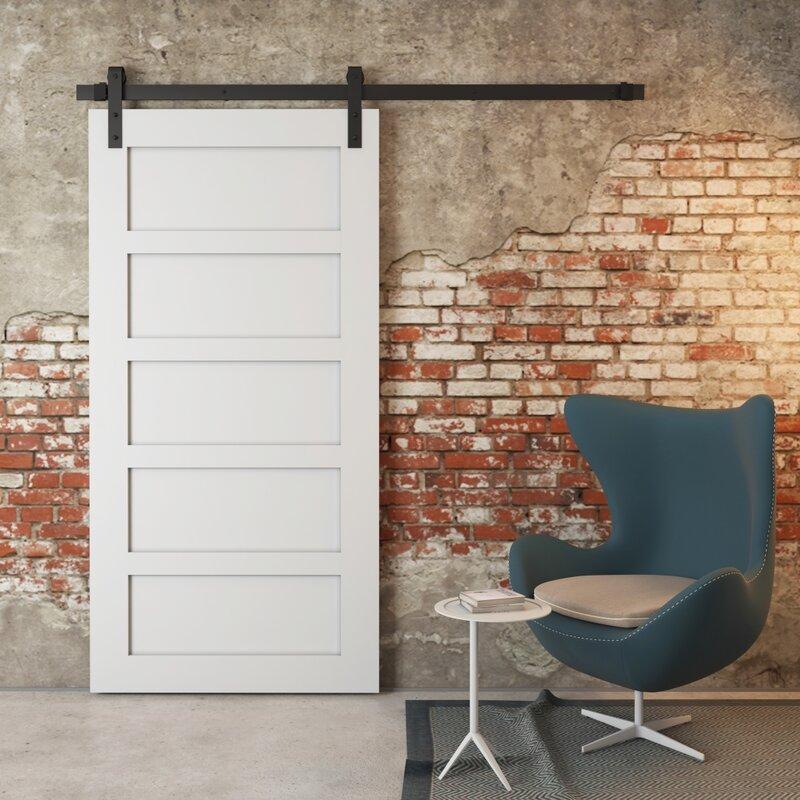 SoHo 5 Panel Solid Wood Interior Barn Door