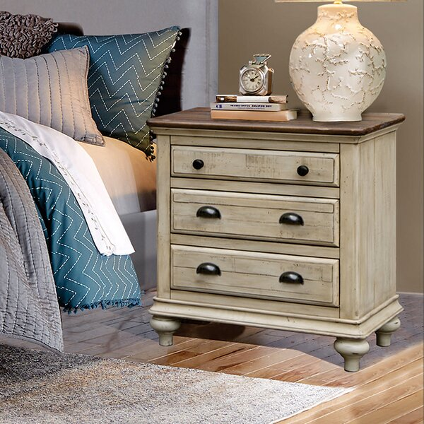 Bayou Breeze Wilfred 3 Drawer Nightstand & Reviews