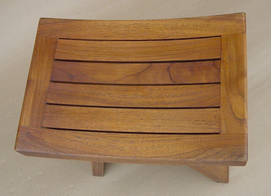 Symple Stuff Teak Wood Shower Seat & Reviews | Wayfair