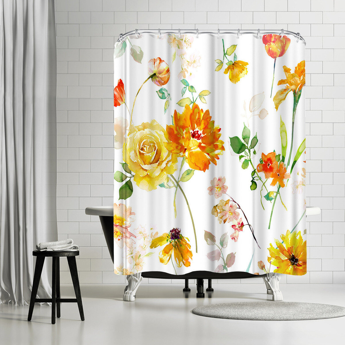 East Urban Home Harrison Ripley Peony Shower Curtain