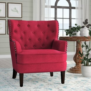 Dark Red Accent Chair | Wayfair