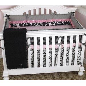 Girly 4 Piece Crib Bedding Set