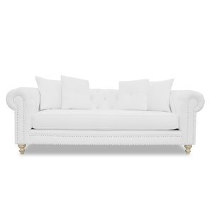 Hanover Tufted Linen Chesterfield Sofa by So..