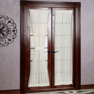 Solid Semi Sheer Rod Pocket Single Curtain Panel