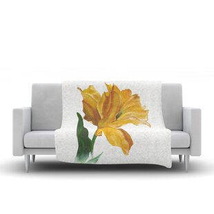 Yellow Tulip Throw Blanket