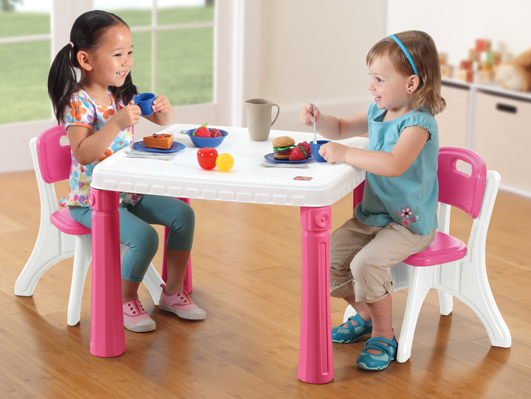 Step2 Lifestyle Kitchen Table And Chair Set Pink