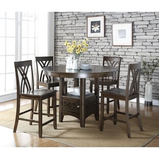 Heffington 5 Piece Counter Height Dining Table Set
