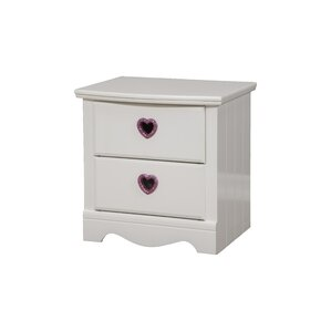 Sparkling Hearts 2 Drawer Nightstand by Sandberg Furniture