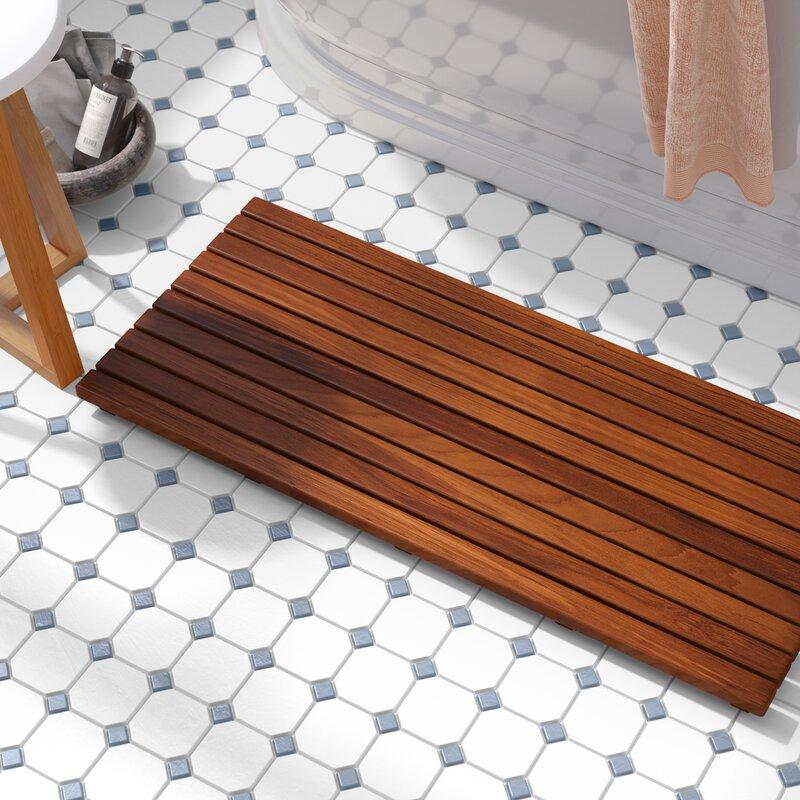 Beachcrest Home Nempnett Thrubwell Teak Shower Mat & Reviews | Wayfair