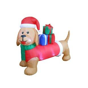 Long Christmas Dog Decoration Inflatable