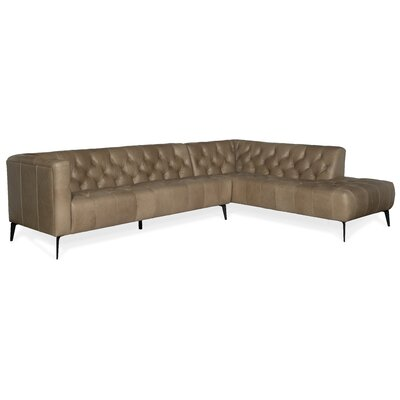 Nicolla Leather Sectional Hooker Furniture Orientation: Right Hand Facing