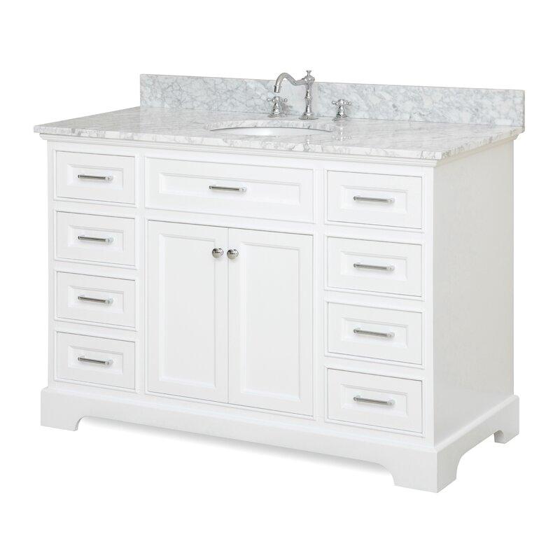single white vanity with sink. Aria 48  Single Vanity Set Vanities You ll Love Wayfair