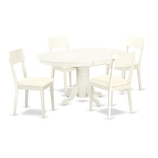 Emmaline 5 Piece Solid Wood Dining Set