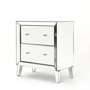 Safire Mirrored 2 Drawer Cabinet
