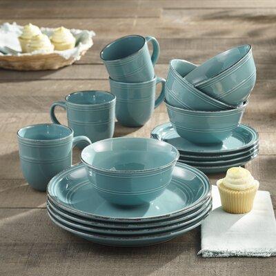 Annabelle 16 Piece Dinnerware Set Service for 4 & Mistana Halsey 16 Piece Dinnerware Set Service for 4 \u0026 Reviews ...