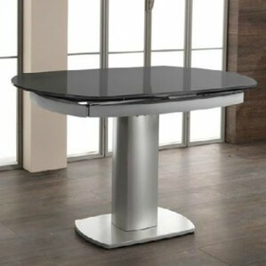 Clower Extendable Tempered Glass Base Dining Table by Orren Ellis
