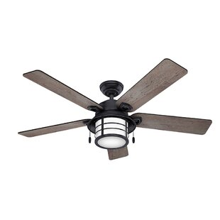 Wet rated outdoor ceiling fans wayfair 54 key biscayne 5 blade outdoor ceiling fan aloadofball Choice Image