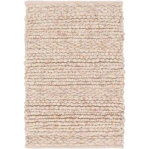 Jocelyn Handwoven Wool Beige Area Rug Allmodern