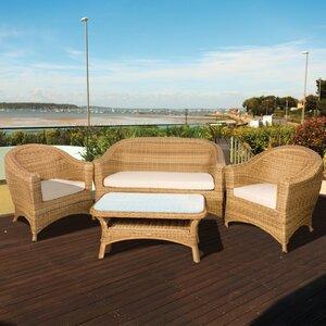 4-Sitzer Sofa-Set Bahama aus Rattan von Home Loft Concept